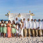 Entire Wedding Party beach wedding