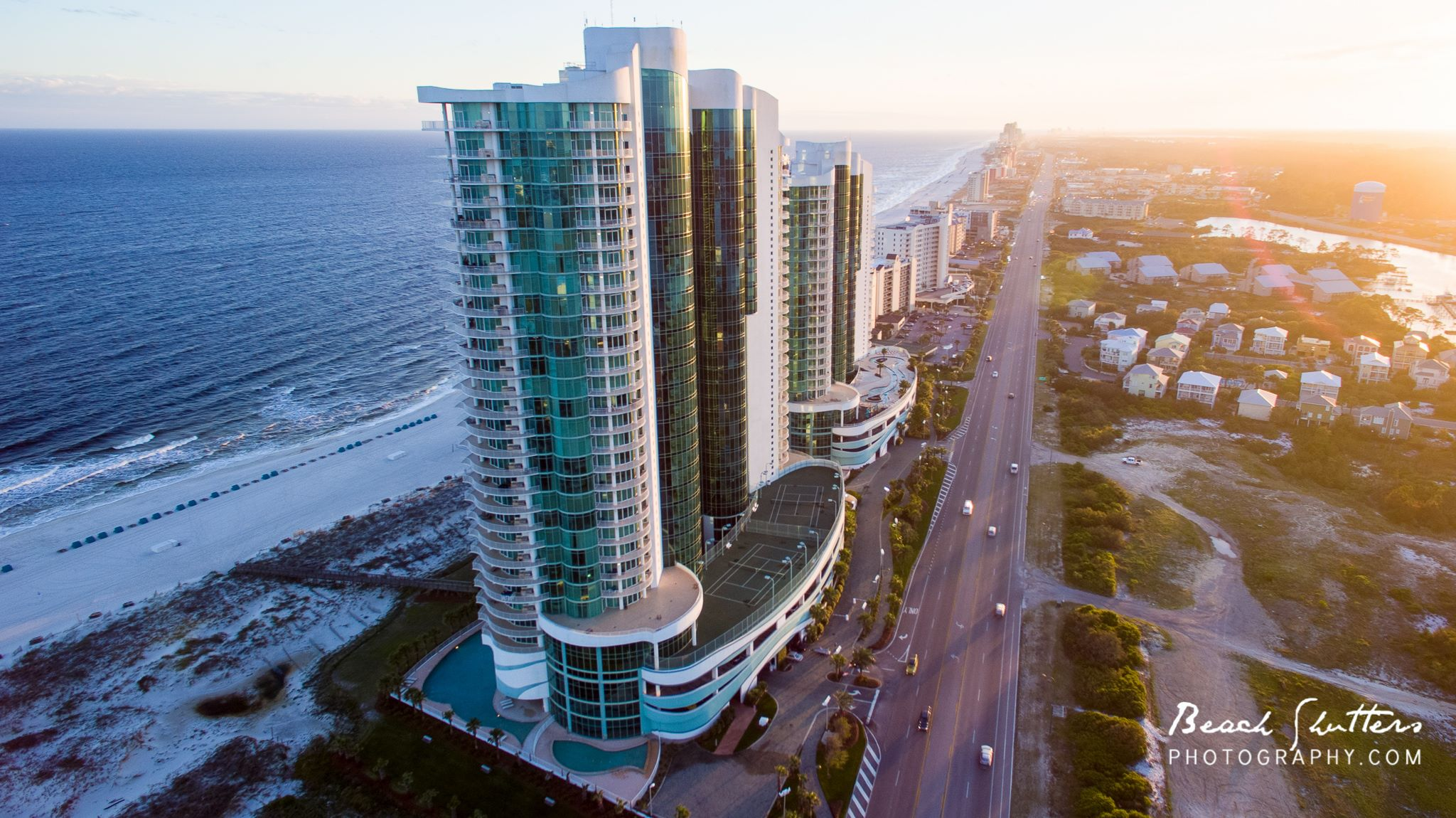 view from the drone Orange Beach