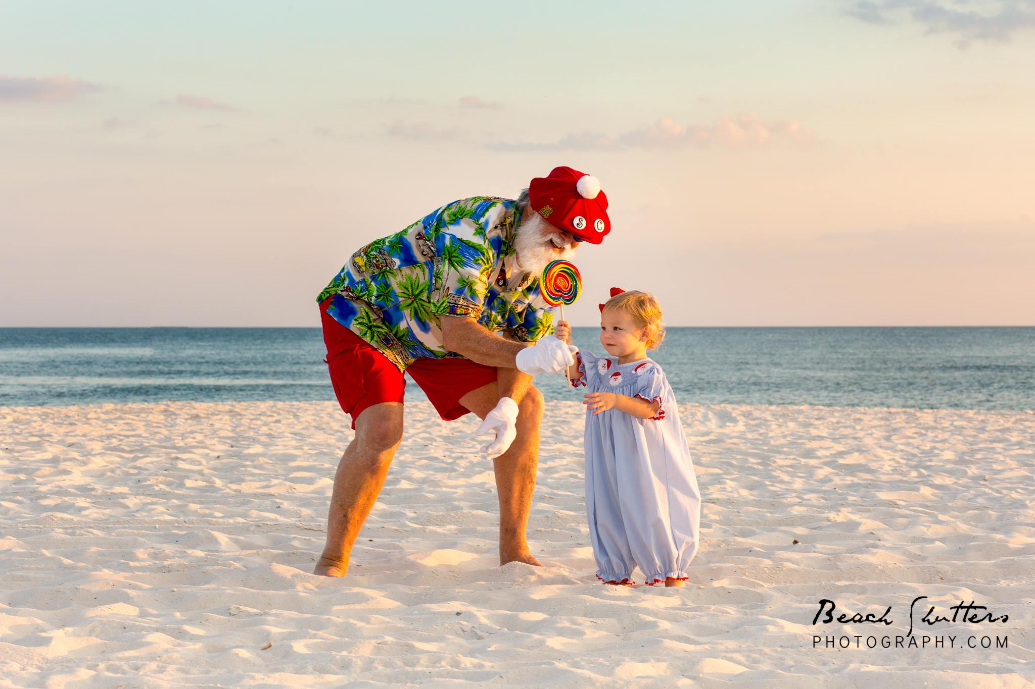 Orange Beach Santa