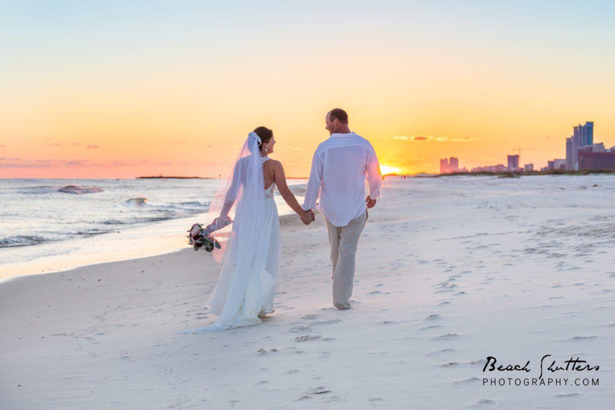 beach walk wedding photographer