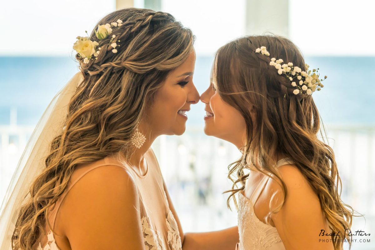 Flower Girl and Bride Wedding photo