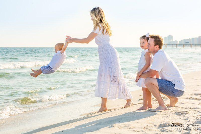 family beach photos Orange Beach Gulf Shores