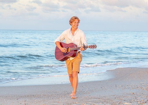 Senior Photos Guitar player photo taken by photographer in destin fl