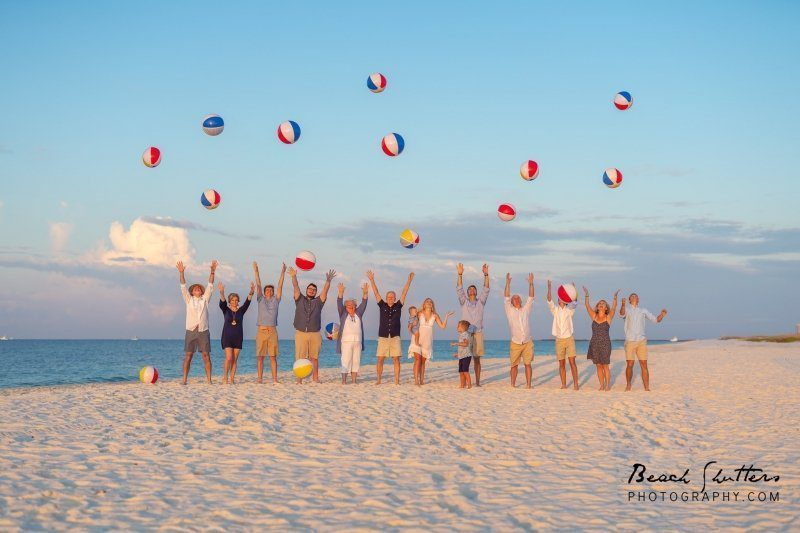 celebrate with photos at the beach