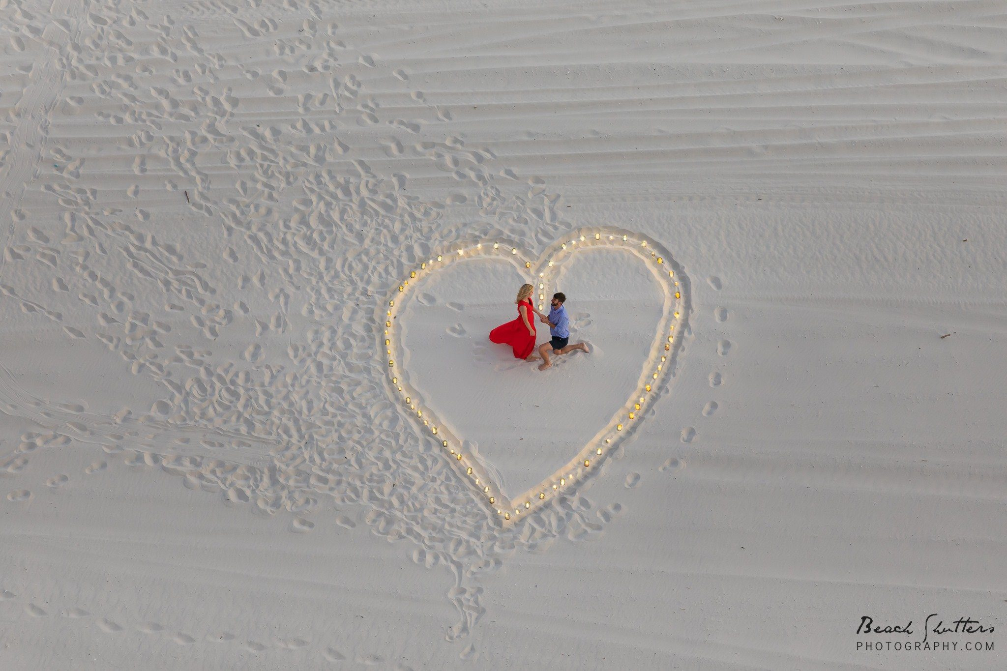 heart in the sand Orange Beach