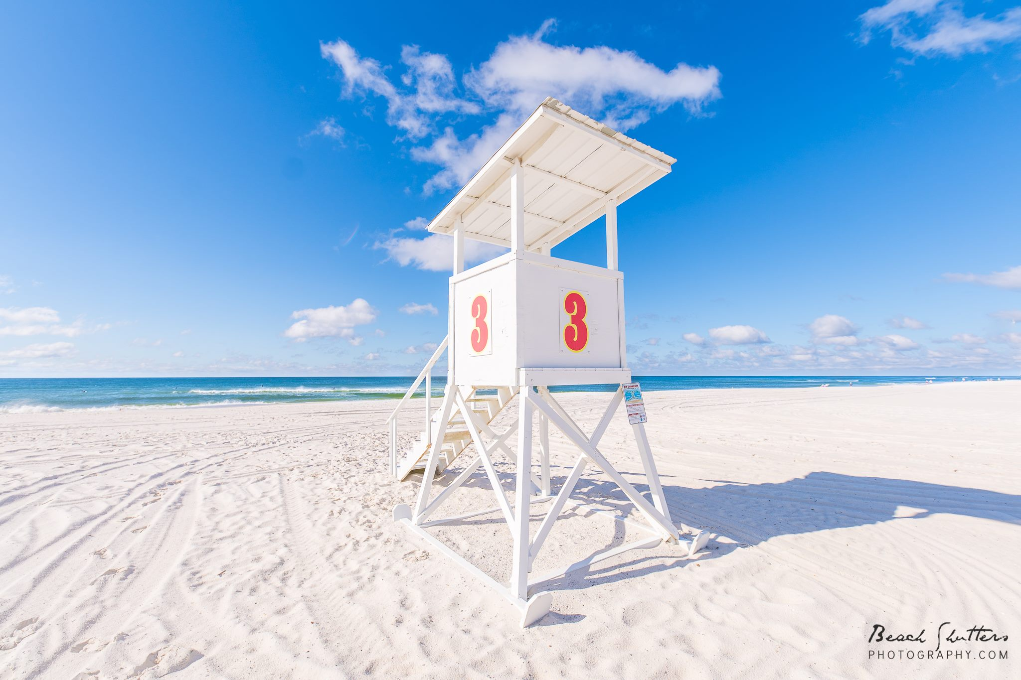Lifeguard stand in Gulf Shores