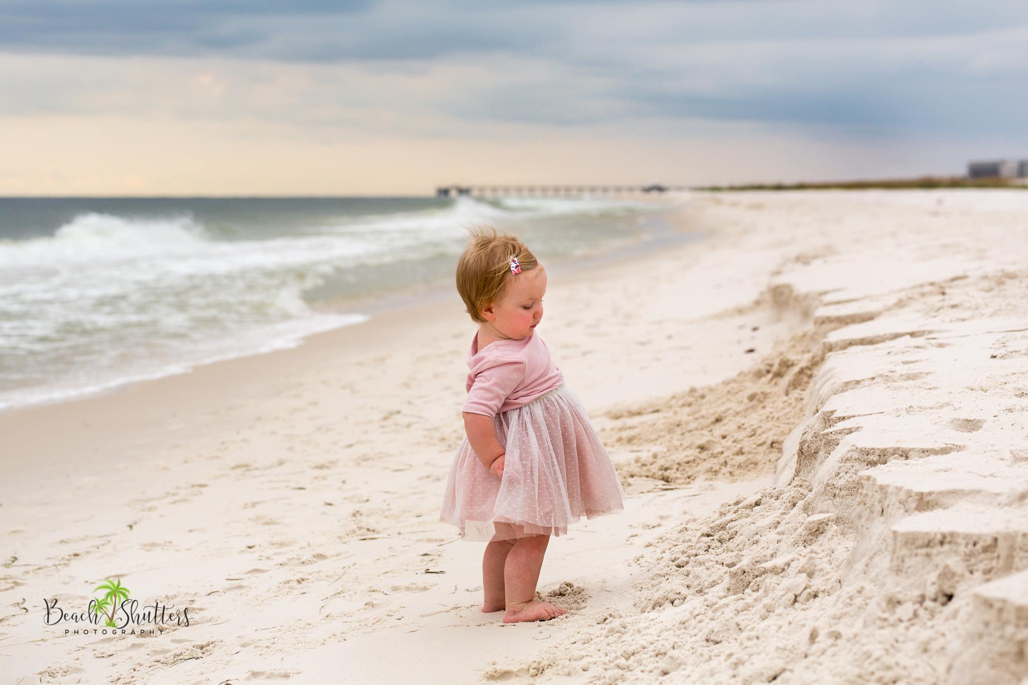 baby photos at the beach