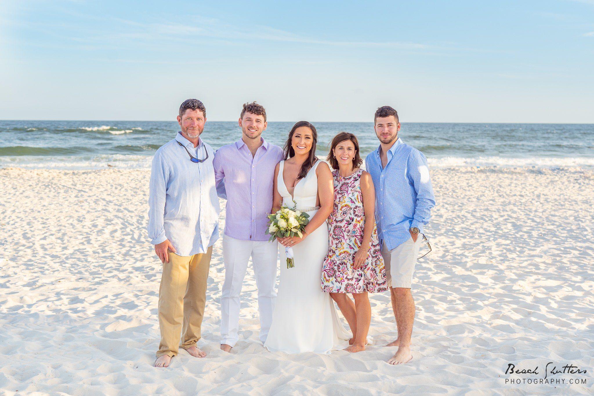 beach portraits wedding