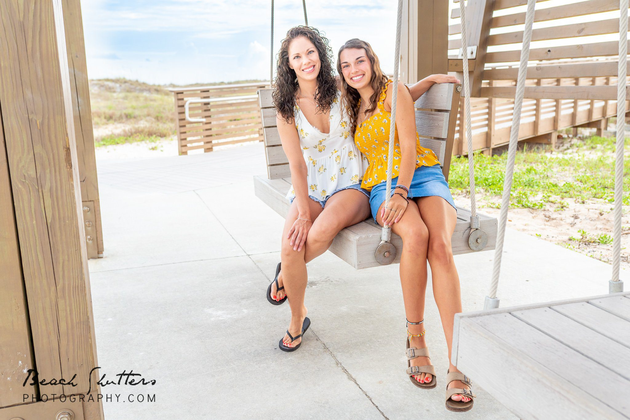 vacation beach portraits in Gulf Shores Mother-Daughter photos