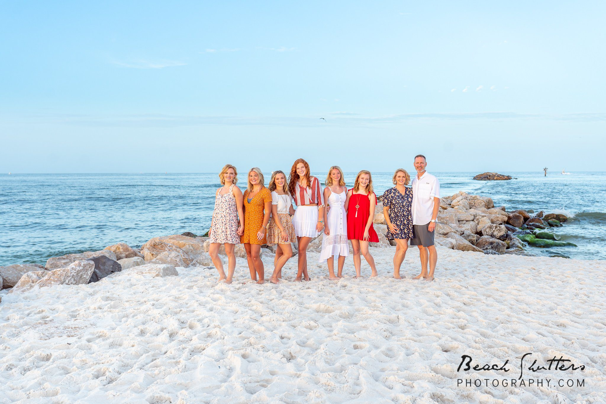 family beach portraits in Gulf Shores
