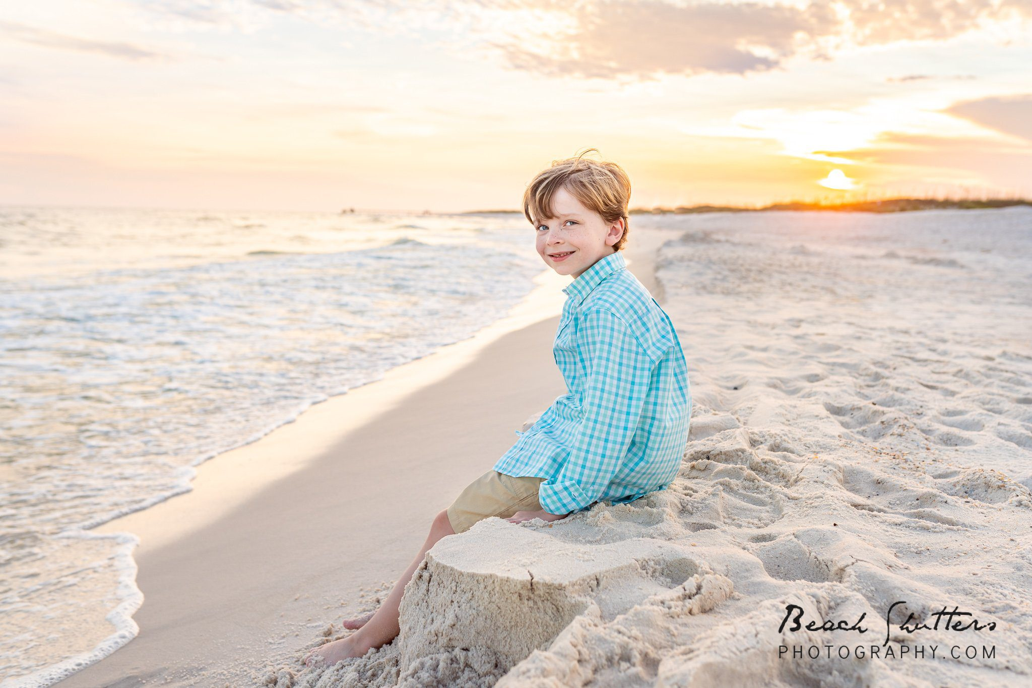 editing a family photo in Gulf Shores