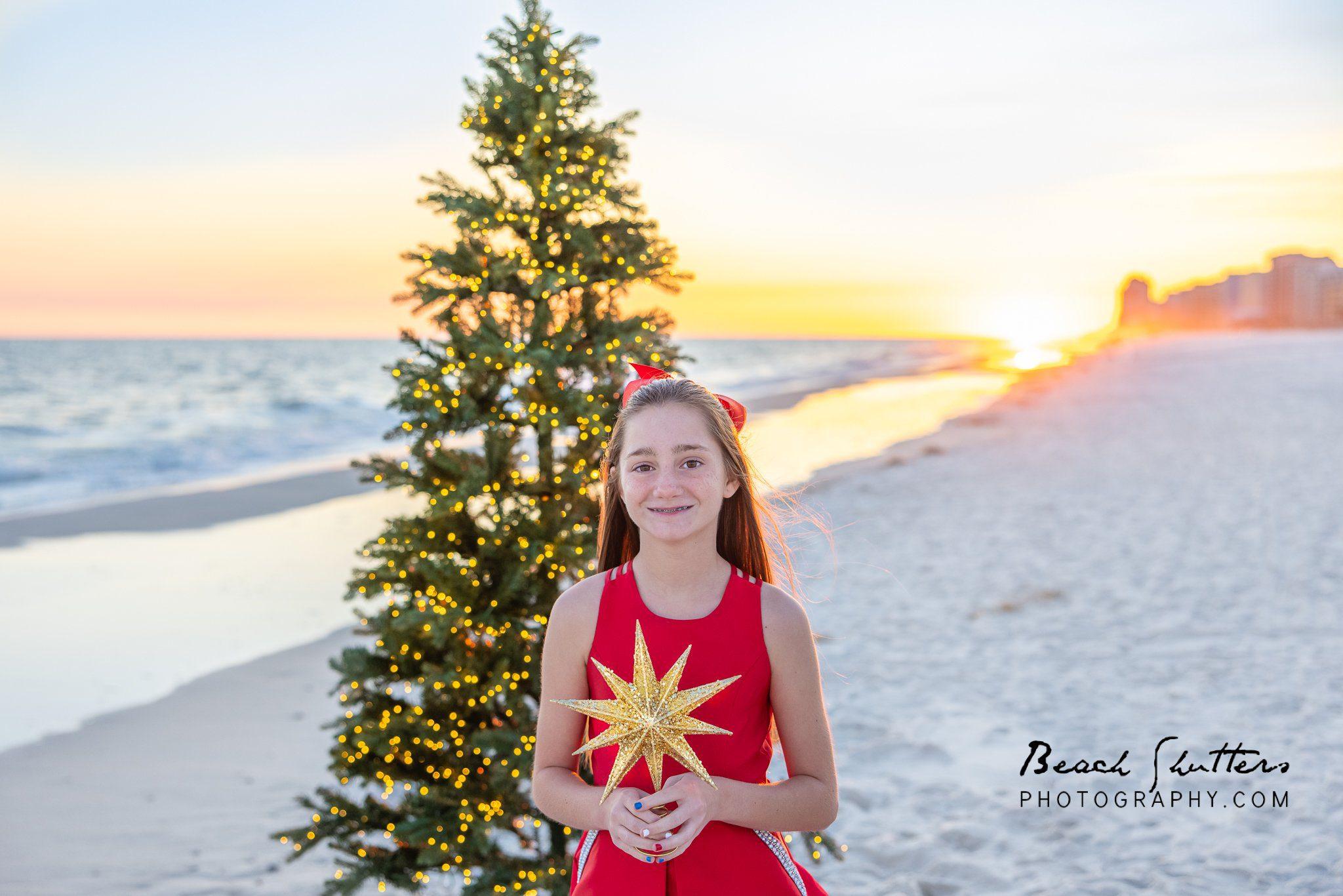 beach photographers Christmas tree
