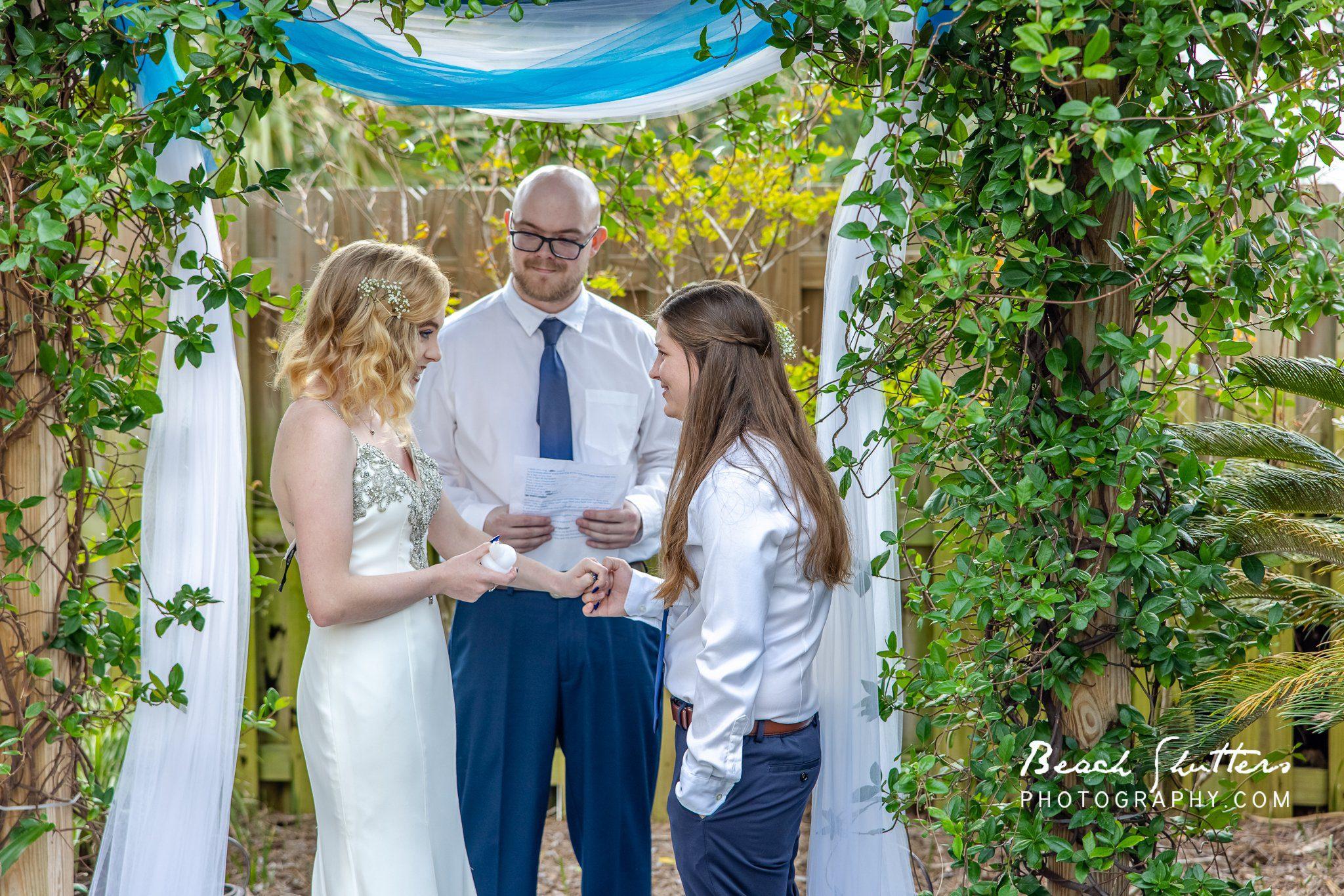 wedding vows at the beach