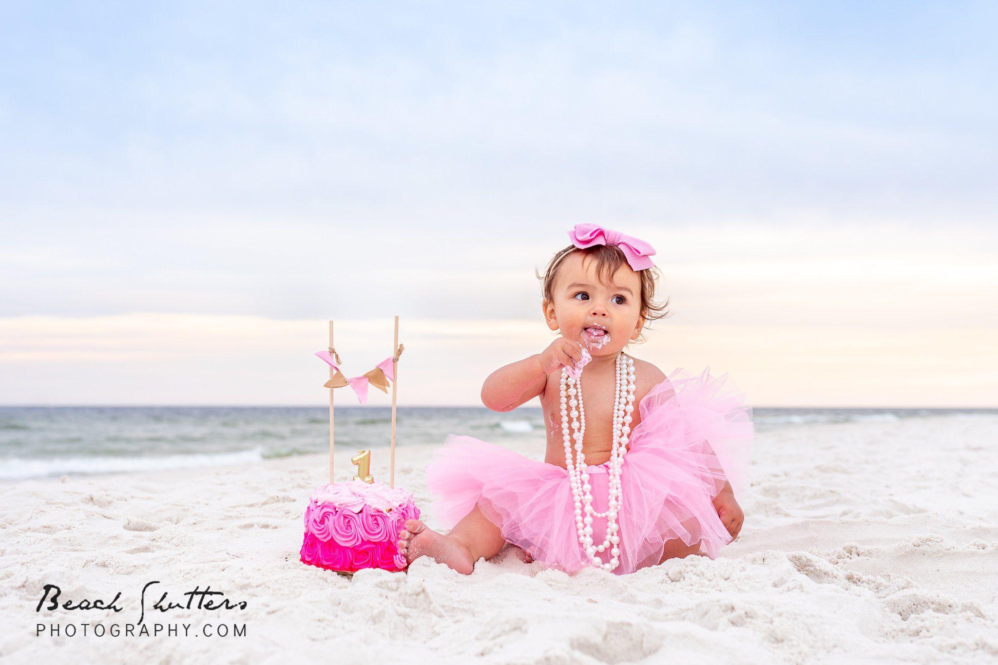 birthday photos at the beach in Orange Beach