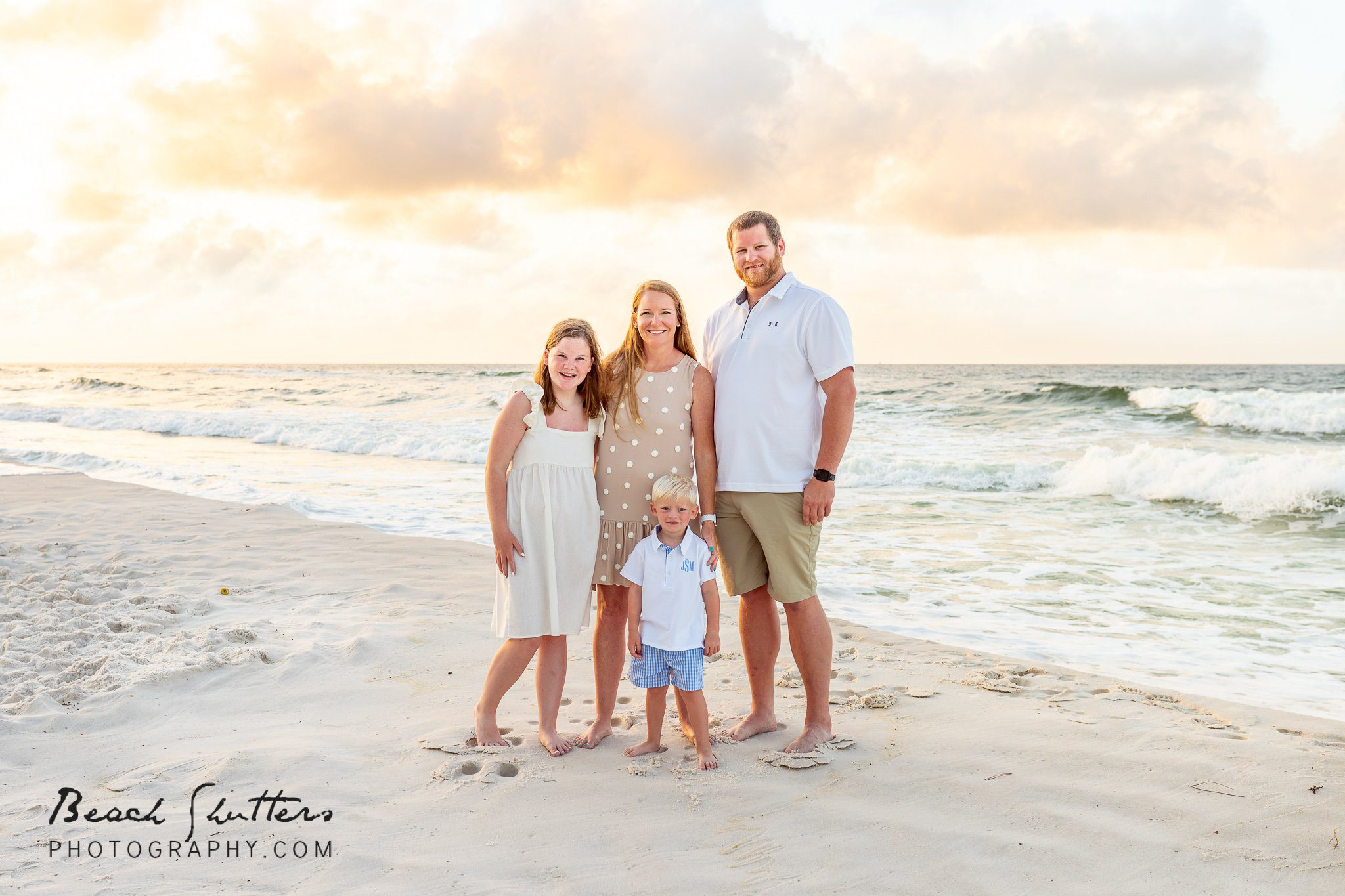 group photos at the beach