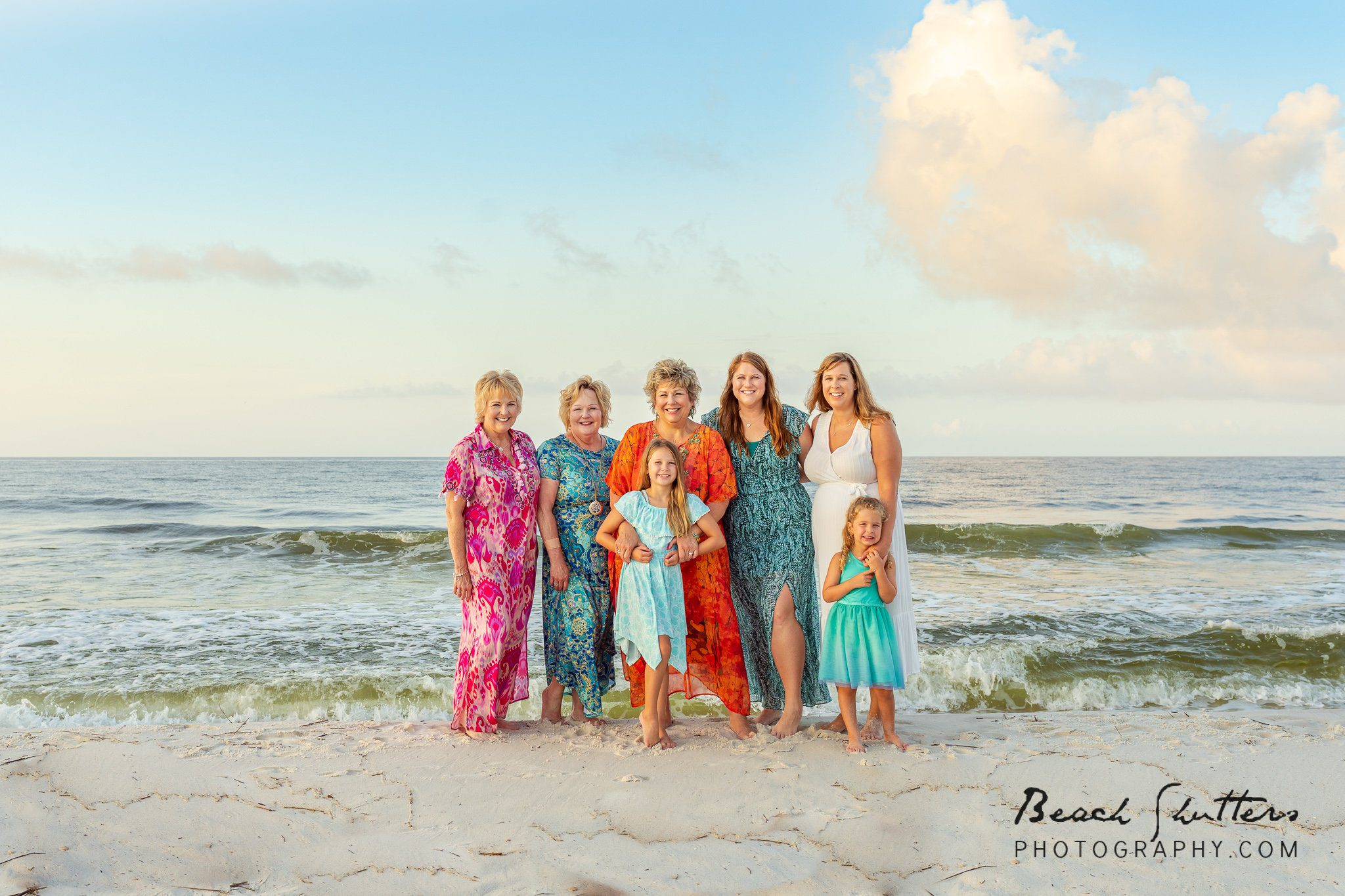 all together for photos in Gulf Shores