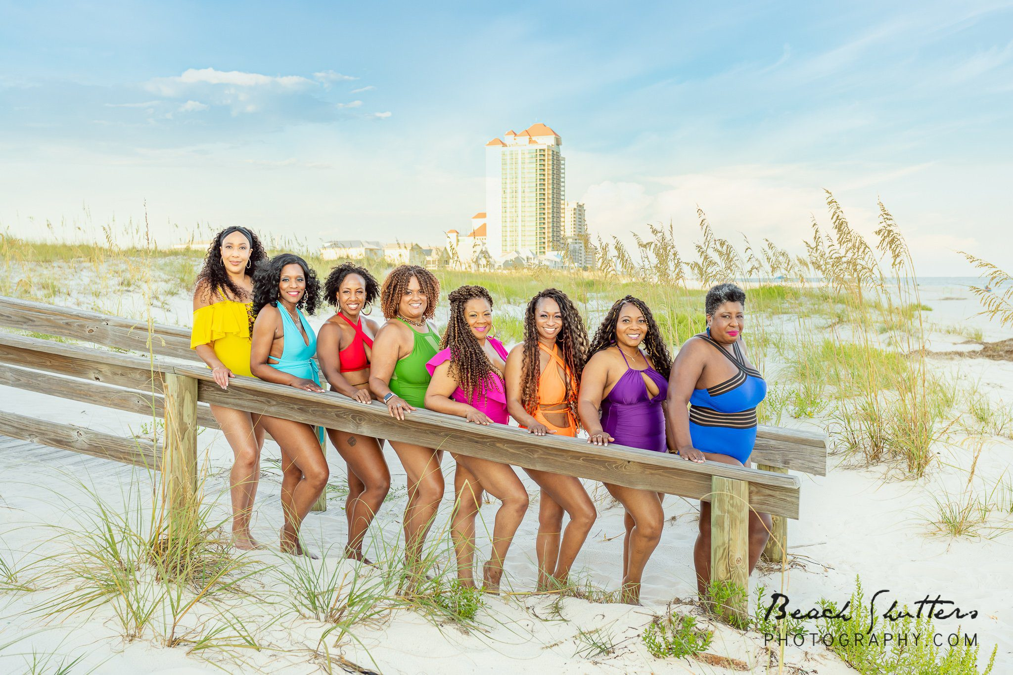friends at the beach in Gulf Shores